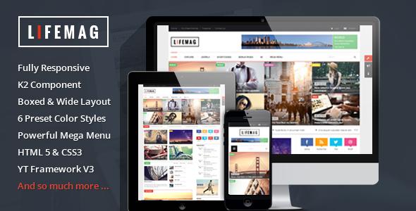 LifeMag – Responsive Magazine Joomla Template