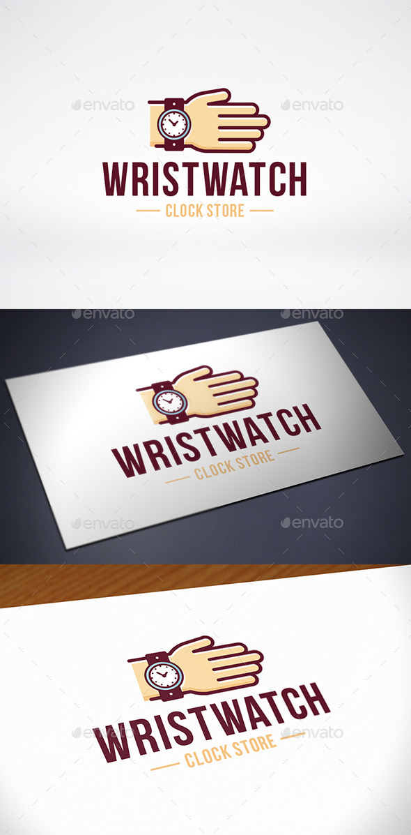 Hand Wristwatch Store Logo Template - Humans Logo Templates