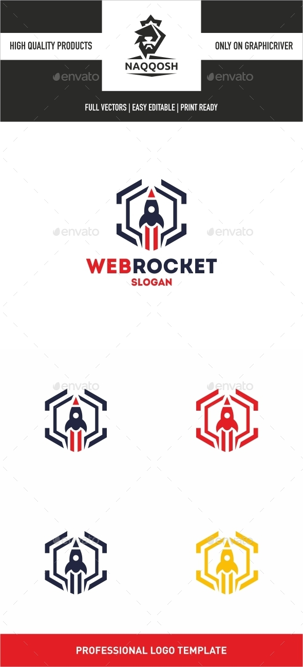 Web Rocket - Symbols Logo Templates
