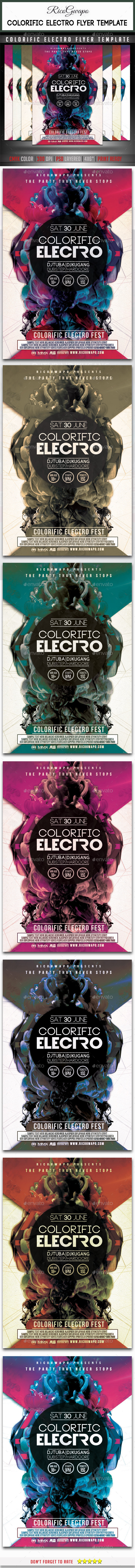 Colorific Electro Flyer Template - Clubs & Parties Events