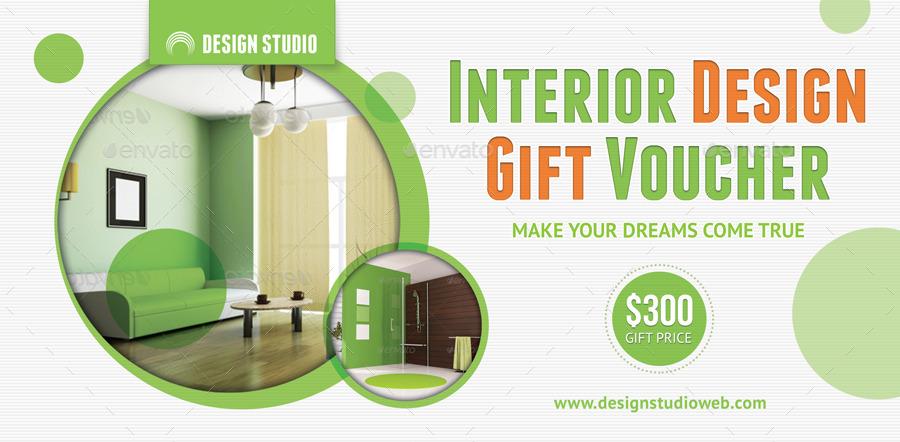 Interior Design Gift Voucher 13 By 21min Graphicriver