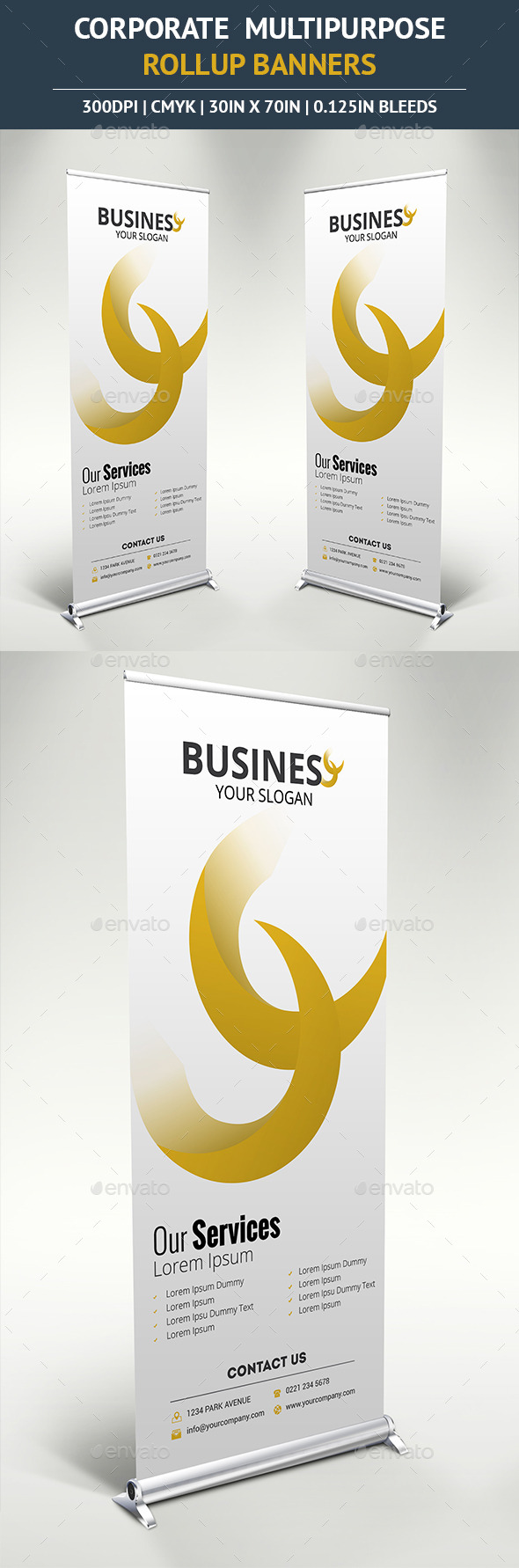 Corporate Rollup Banner vol5 - Signage Print Templates