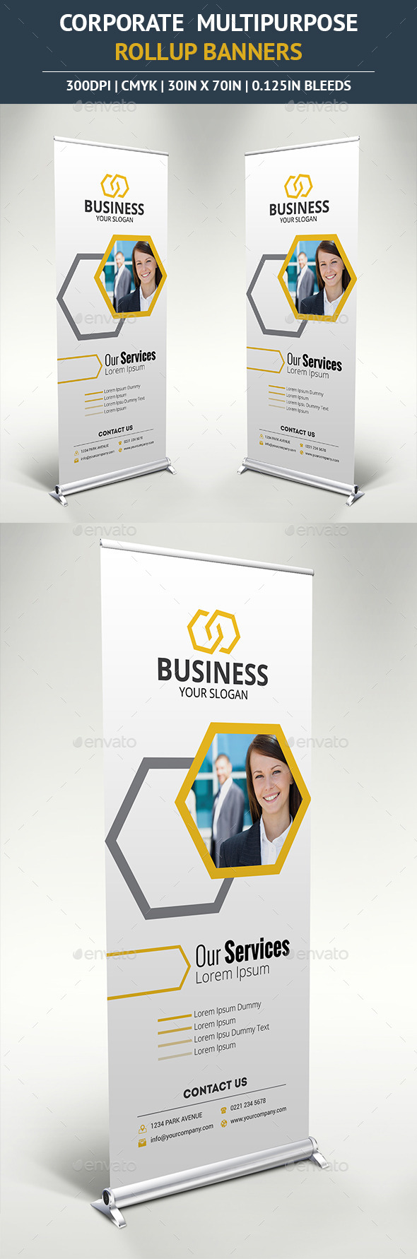 Corporate Rollup Banner vol6 - Signage Print Templates