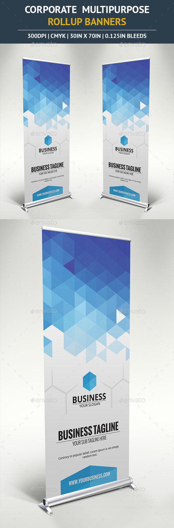 Corporate Rollup Banner vol7 - Signage Print Templates