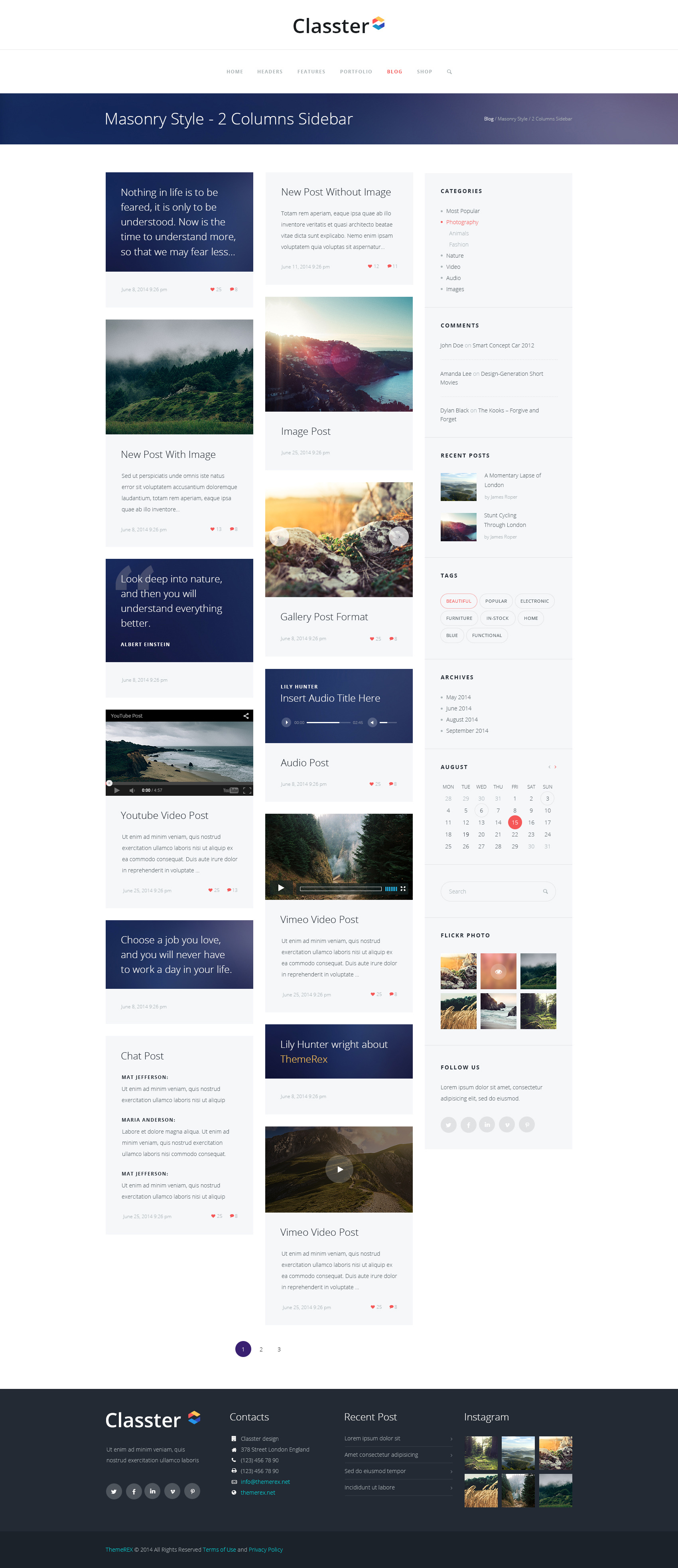 Classter multi purpose wordpress theme by themerex themeforest classter multi purpose wordpress theme pronofoot35fo Image collections