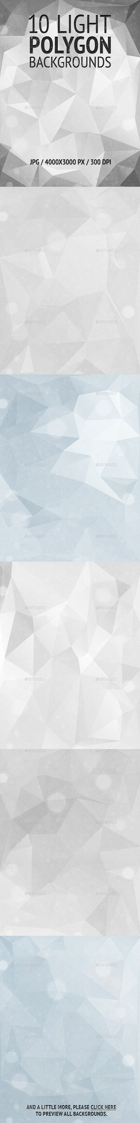 10 Light Polygon Backgrounds - Abstract Backgrounds