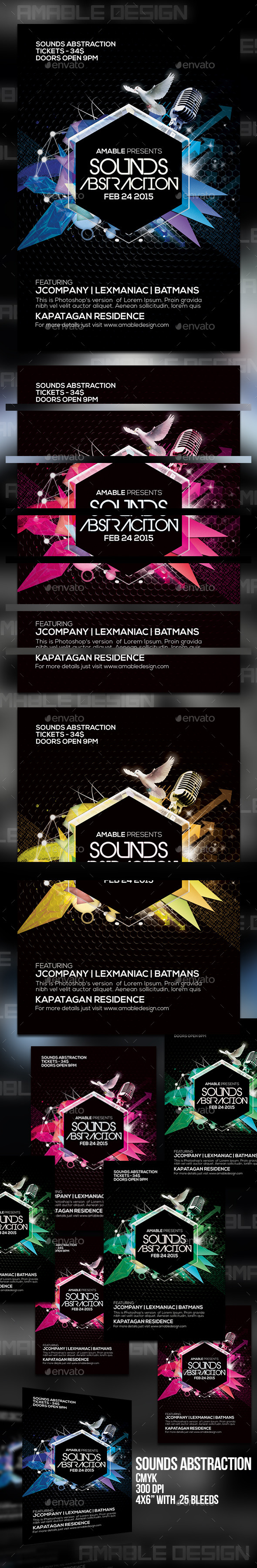 Sounds Abstraction Flyer - Clubs & Parties Events
