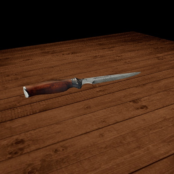 Hunted Knife - 3DOcean Item for Sale