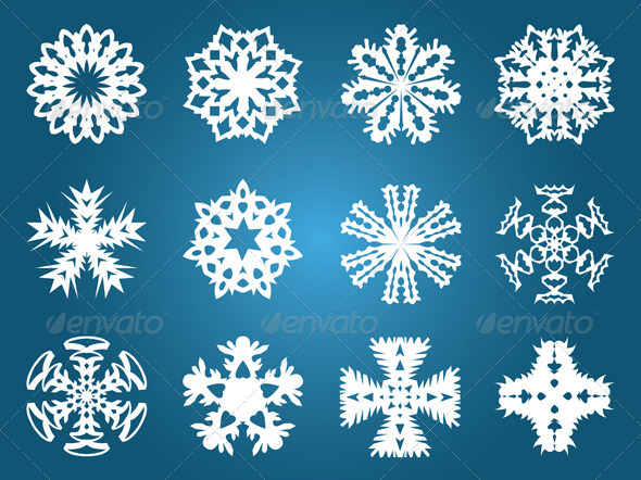 Beautiful Christmas Snowflakes - Patterns Decorative