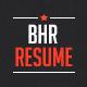 BHR Resume  - GraphicRiver Item for Sale