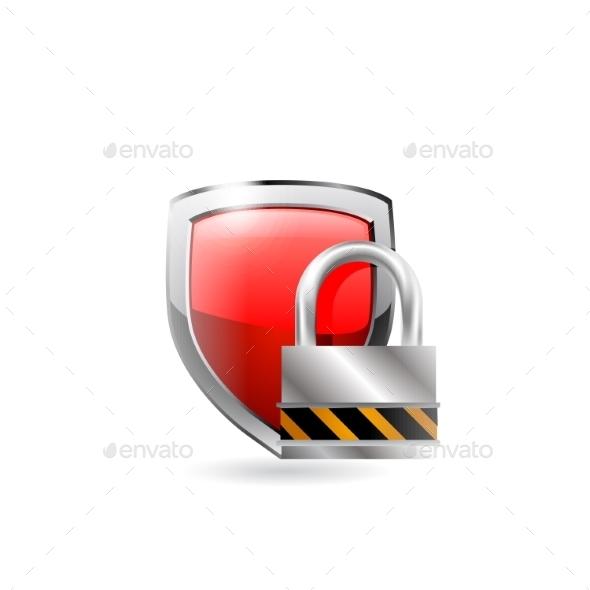 Shield and Lock - Miscellaneous Vectors