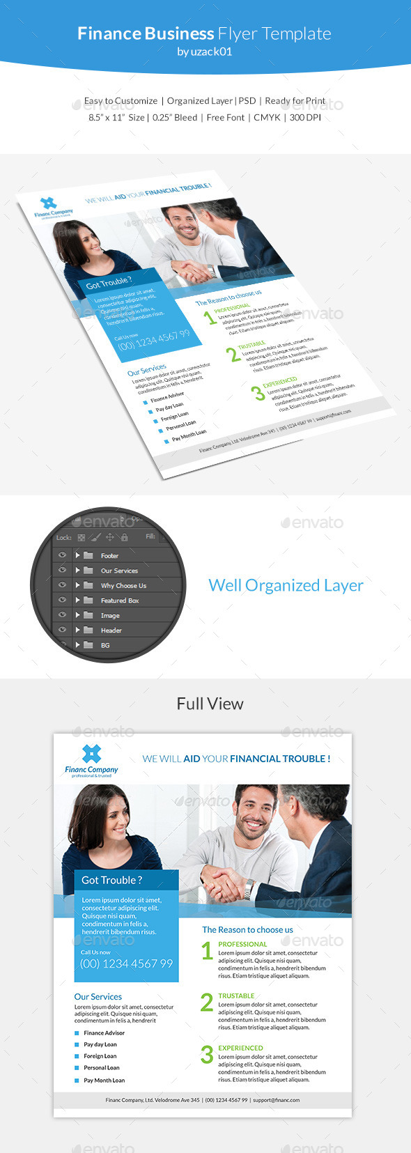 Finance Business Flyer Template - Corporate Flyers