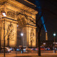 Arch Of Triumph by Night 5, Paris - VideoHive Item for Sale