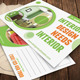 Interior Solutions Post Card - GraphicRiver Item for Sale