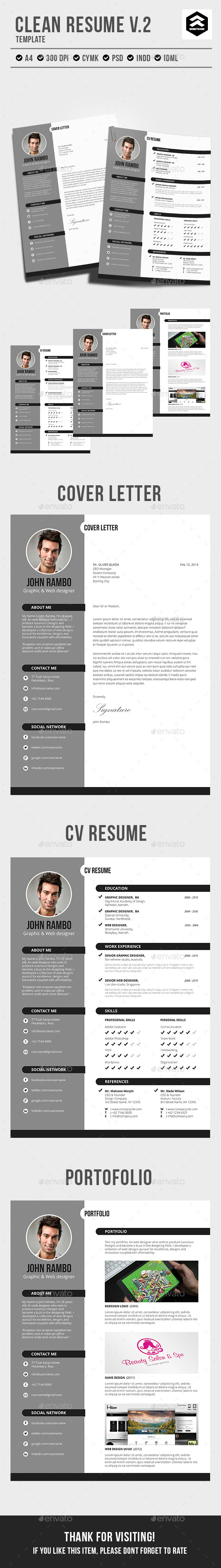 Clean Resume vol.2 - Resumes Stationery