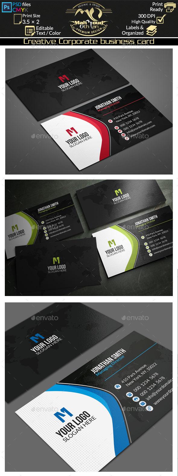 Creative Corporate Business Card 71 - Corporate Business Cards