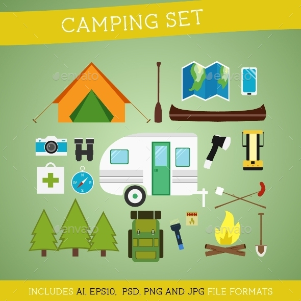 Camping Equipment Set - Sports/Activity Conceptual