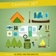 Camping Equipment Set - GraphicRiver Item for Sale
