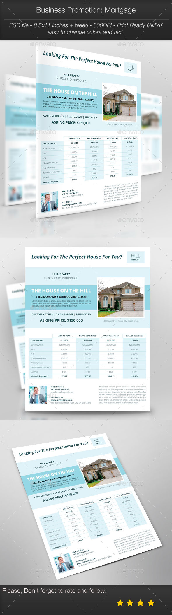 Business Promotion: Mortgage - Corporate Flyers