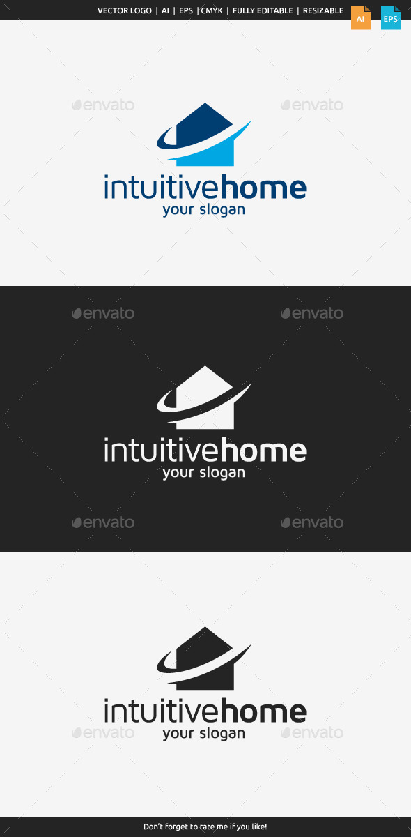 Intuitive Home Logo - Buildings Logo Templates
