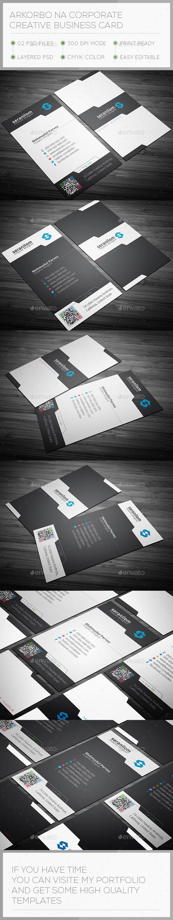 Arkorbona Corporate Creative Business Card - Corporate Business Cards