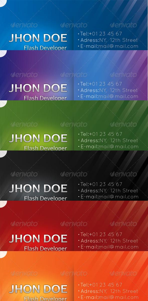 Sunlit Business Card (5 Colors + 1 Colorful)