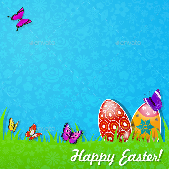Easter Background Made Of Paper - Miscellaneous Seasons/Holidays