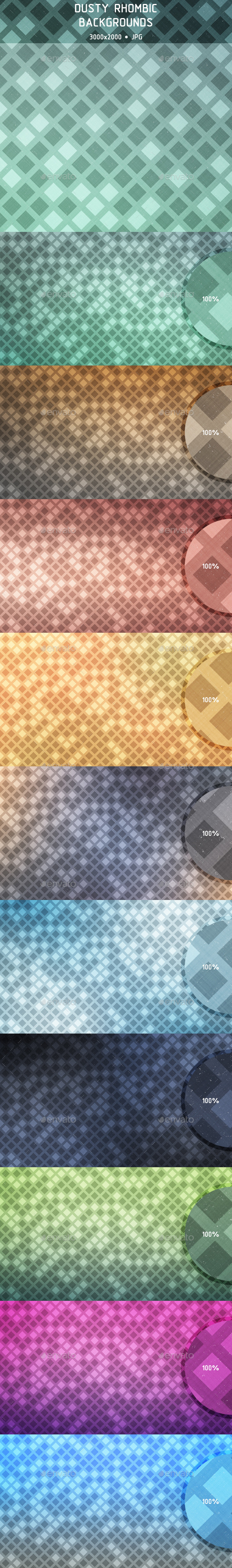 Dusty Rhombic Backgrounds - Backgrounds Graphics
