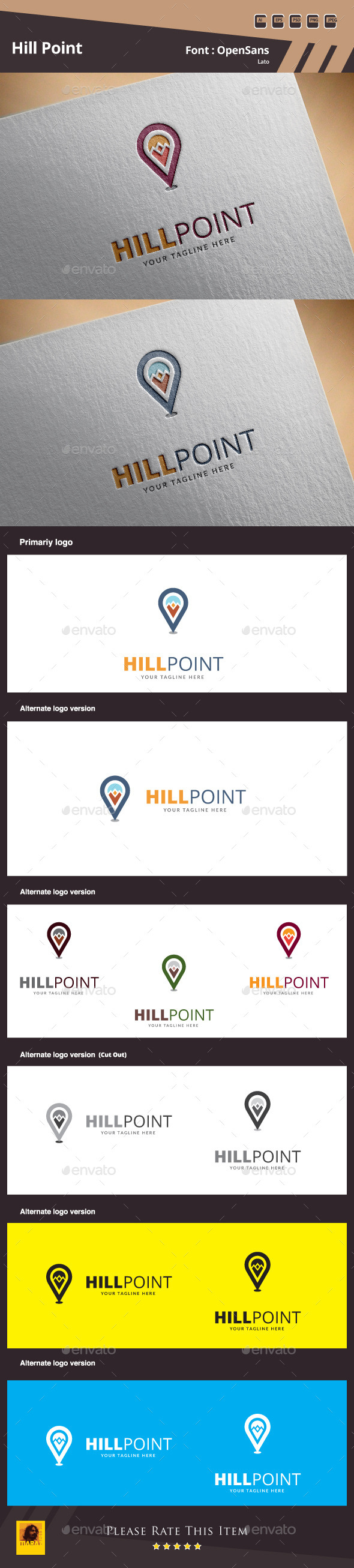 Hill Point Logo Template - Nature Logo Templates