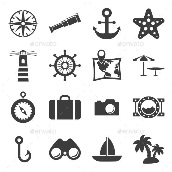 Sea and Beach icons - Seasonal Icons