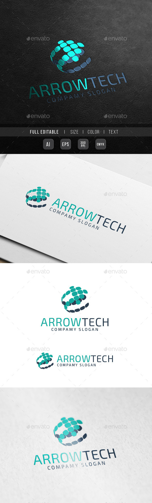 Global Arrow Technology - Music World chart - Abstract Logo Templates