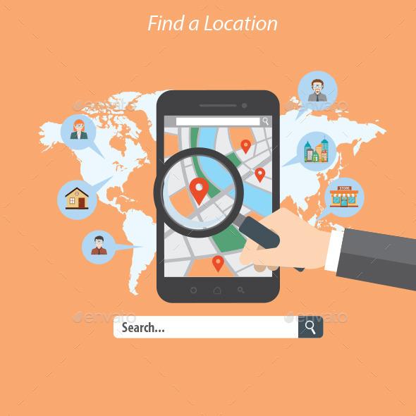 Find a Location - Conceptual Vectors