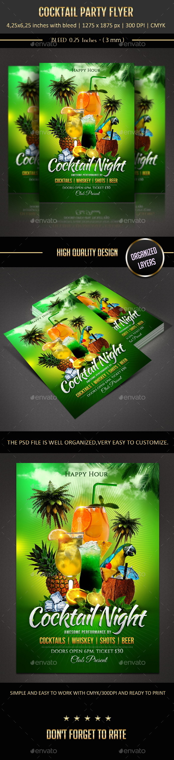 Cocktail Party Flyer - Flyers Print Templates