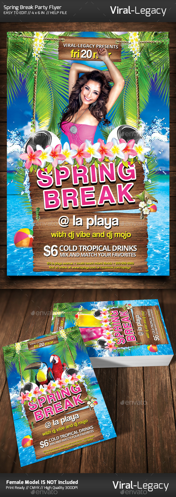 Spring Break Party Flyer - Clubs & Parties Events