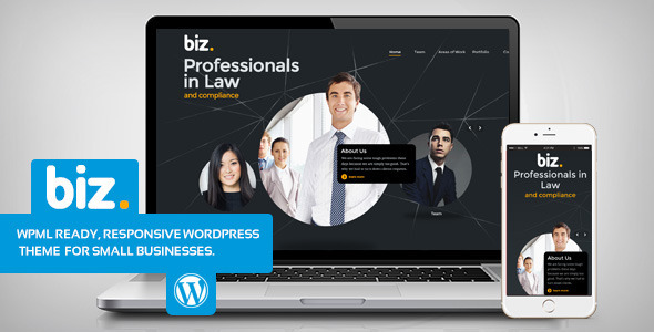 biz - Law & Business WordPress theme - Corporate WordPress