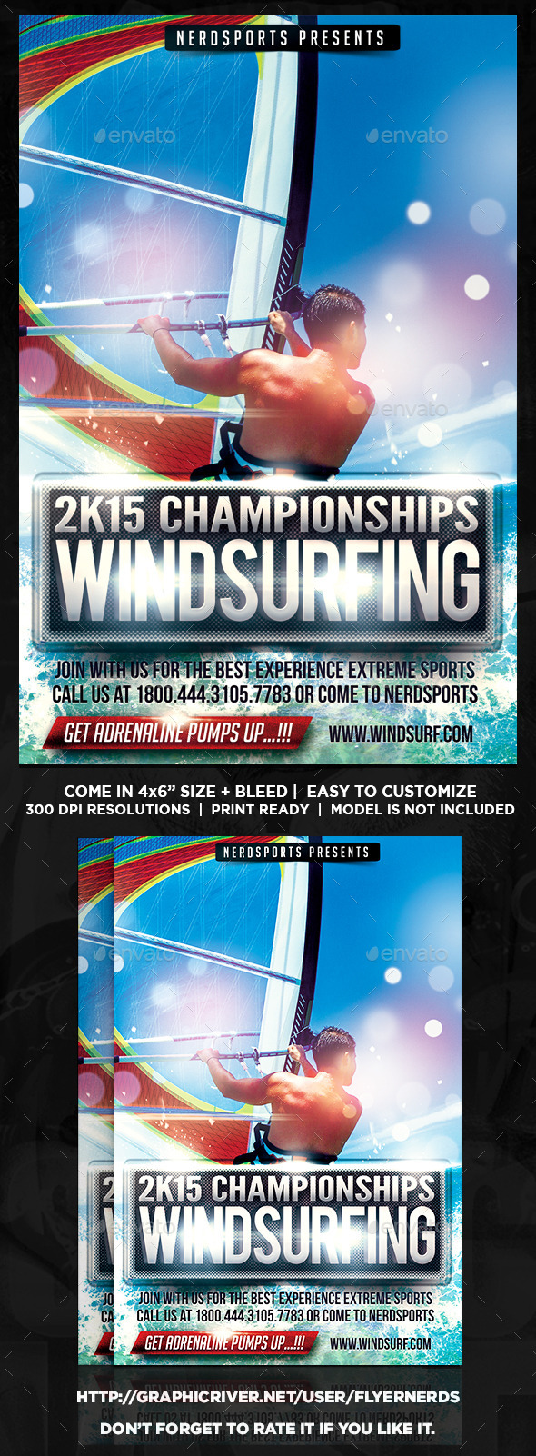 Windsurfing Championships Sports Flyer - Sports Events