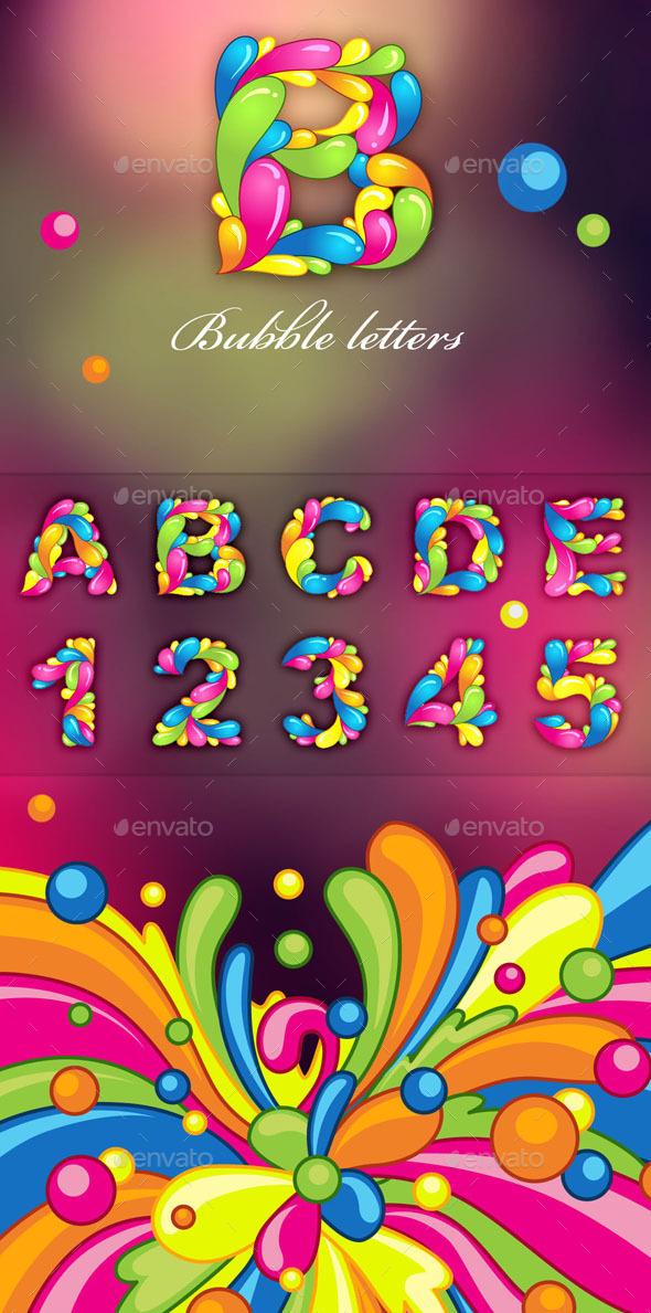 Bubble Letters - Decorative Vectors