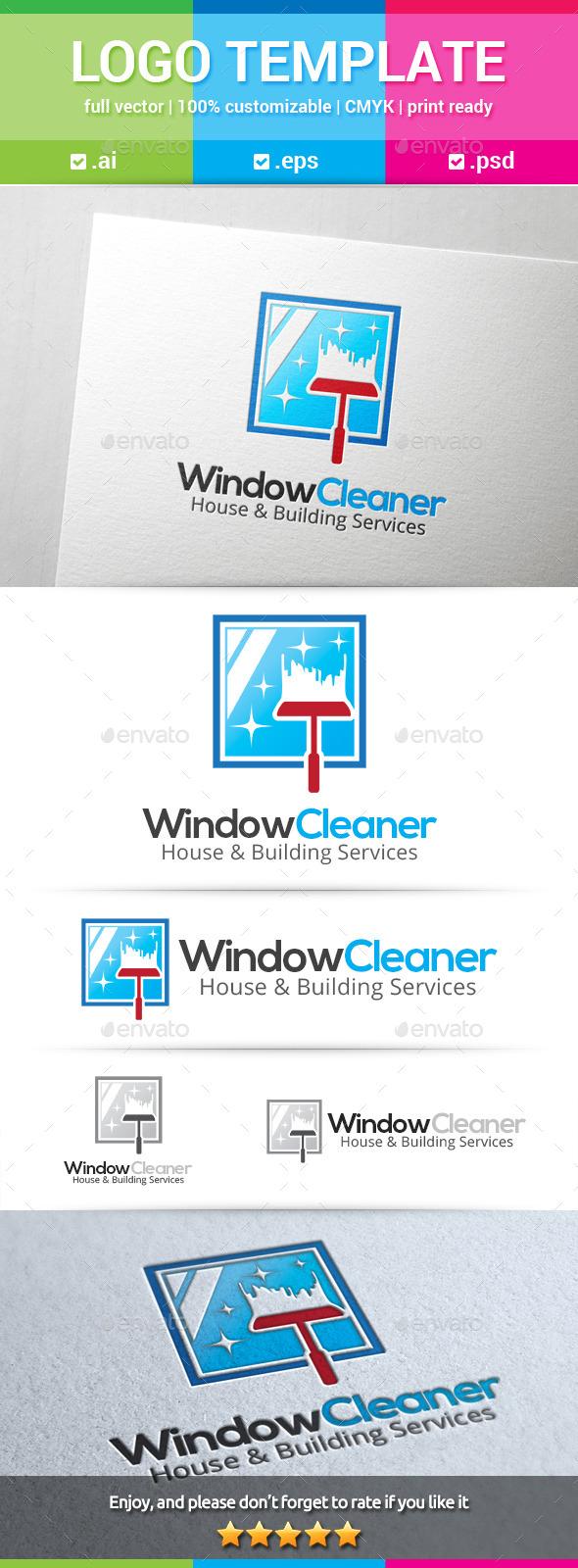 Window Cleaner Logo - Buildings Logo Templates