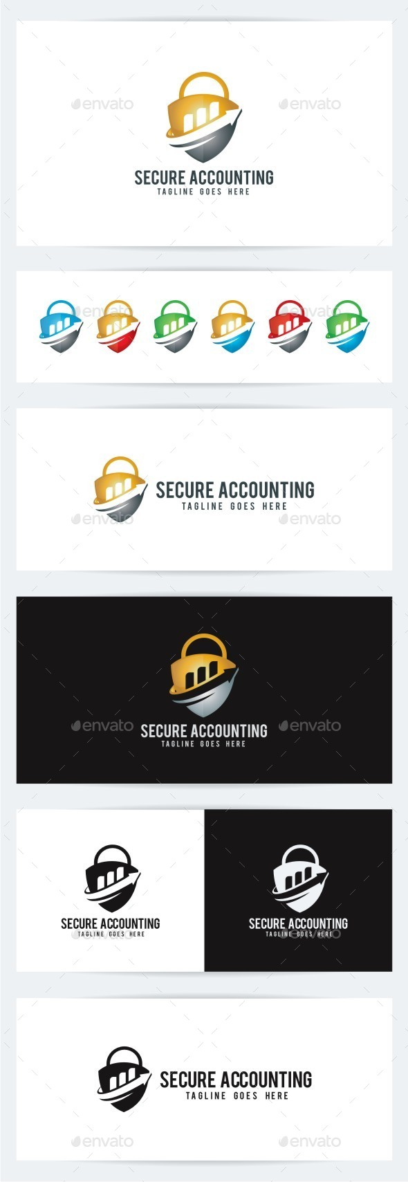 Secure Accounting - Symbols Logo Templates
