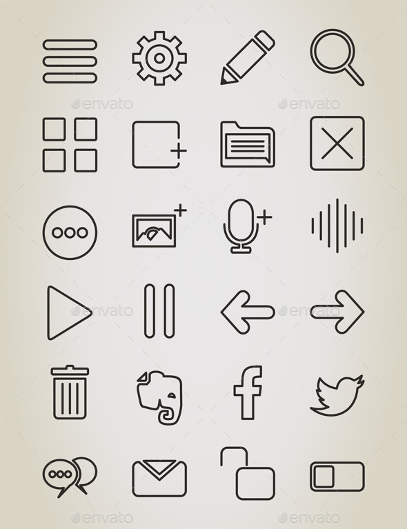 Web Outline Icon - Web Elements Vectors
