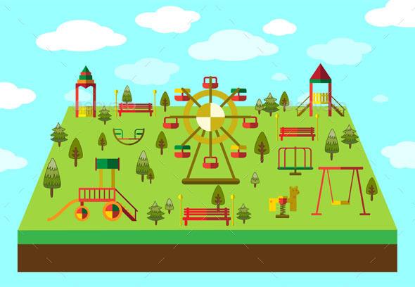 Playground Equipment - Sports/Activity Conceptual