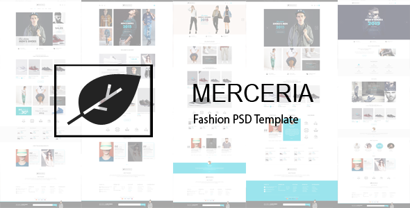 MERCERIA – Fashion PSD Template
