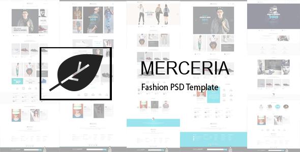 MERCERIA - Fashion PSD Template - Fashion Retail