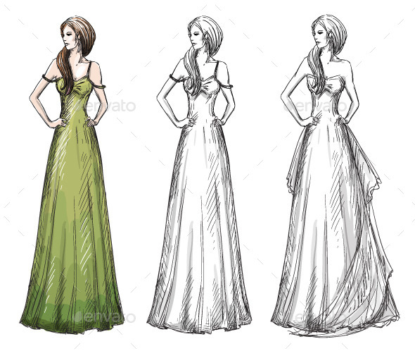 Fashion Dresses - People Characters