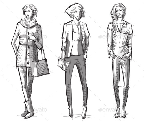 Fashion Sketches - People Characters