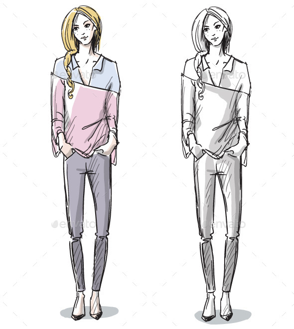 Fashion Sketch - People Characters