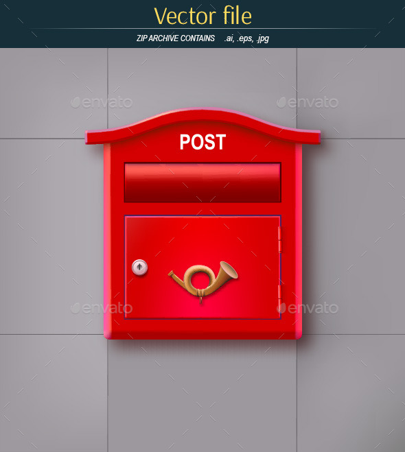 The Mailbox on the Wall - Man-made Objects Objects