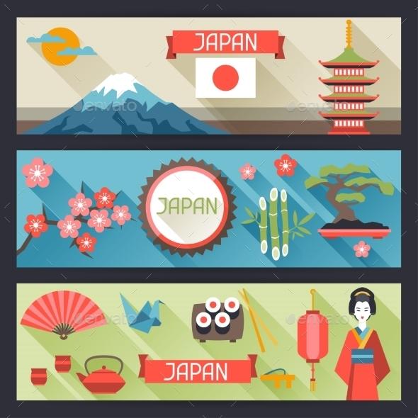 Japan Banners Design - Travel Conceptual