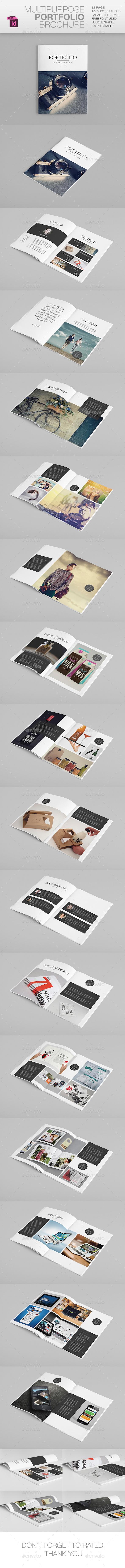 Multipurpose A5 Portfolio - Portfolio Brochures