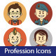 Set of Flat People Profession Icons - GraphicRiver Item for Sale